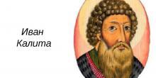 Сообщение об Иване Калите