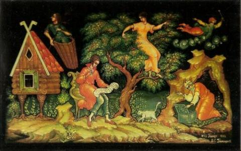 Доклад изделия палехских художников 7131